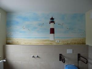 Pflegebad-in-Sylter-Landschaft - Illusionsmalerei