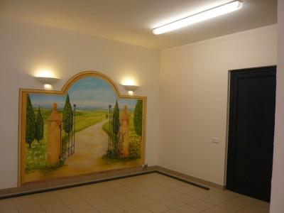 Raumöffnung durch Wandbild