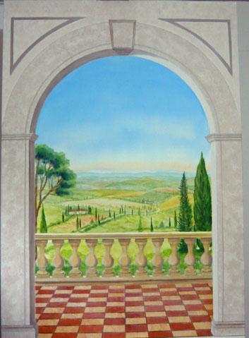 Toscanalandschaft_Leinwand