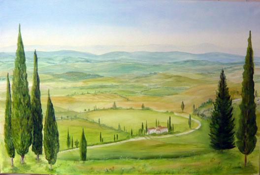 Wandbild_auf_Leinwand_Toscanalandschaft