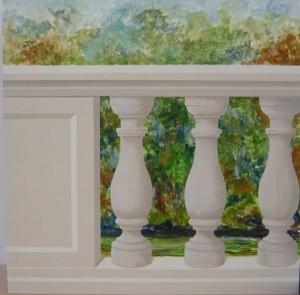 Ballustrade Wandmalerei