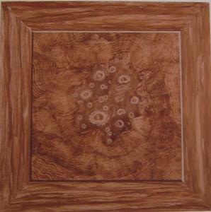 Wurzelholz gemalt Holzimitation