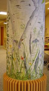 Säule Dementenstation - Wandmalerei